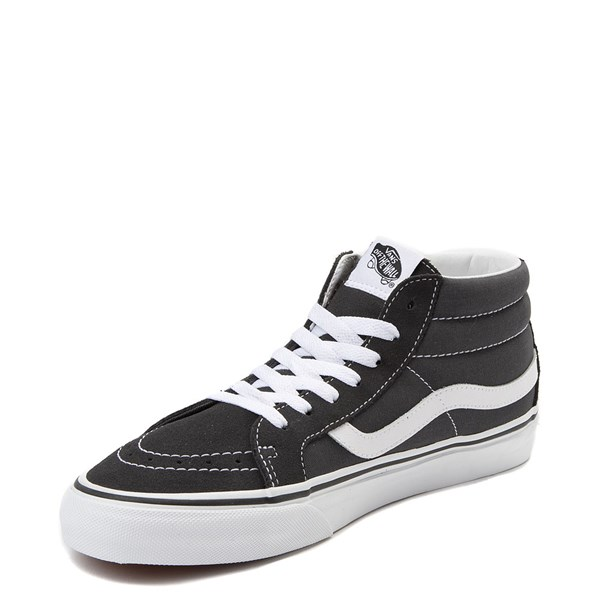 alternate view Vans Sk8 Mid Skate Shoe - Dark GrayALT3
