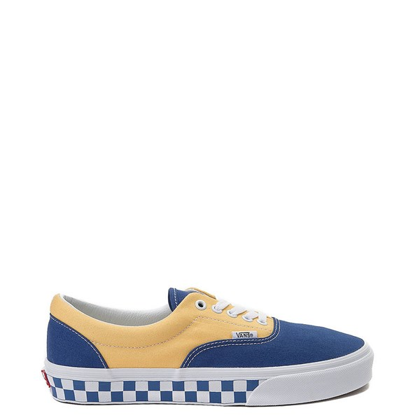 Default view of Vans Era BMX Checkerboard Skate Shoe - Blue / Yellow
