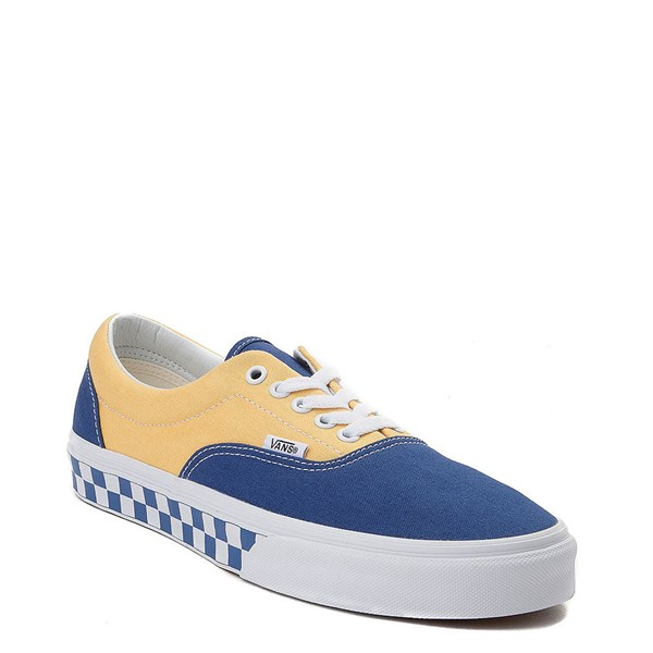Alternate view of Vans Era BMX Checkerboard Skate Shoe - Blue / Yellow
