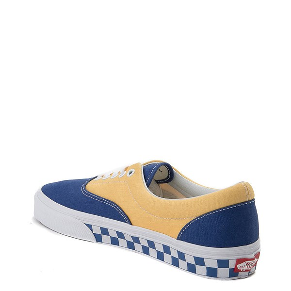 alternate view Vans Era BMX Checkerboard Skate Shoe - Blue / YellowALT2
