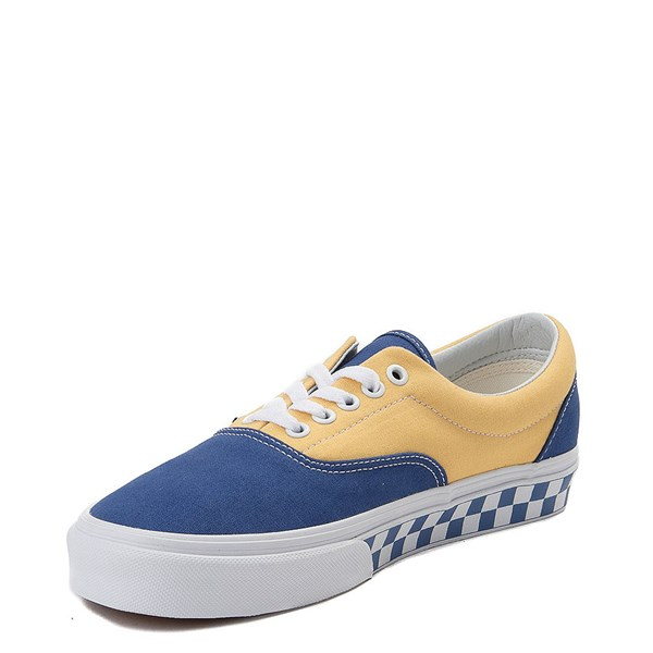 alternate view Vans Era BMX Checkerboard Skate Shoe - Blue / YellowALT3