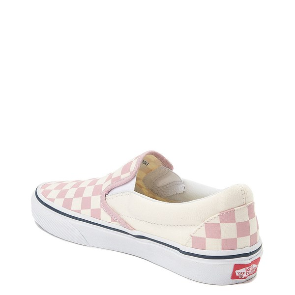 alternate view Vans Slip On Checkerboard Skate Shoe - Zephyr Pink / WhiteALT2