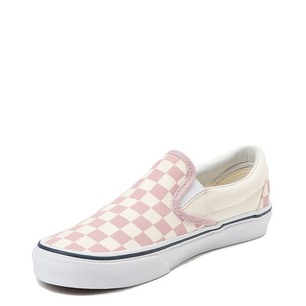 alternate view Vans Slip On Checkerboard Skate Shoe - Zephyr Pink / WhiteALT3