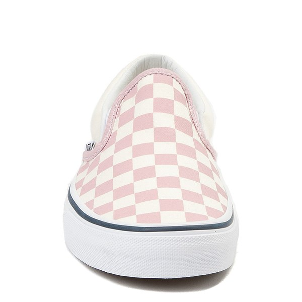 alternate view Vans Slip On Checkerboard Skate Shoe - Zephyr Pink / WhiteALT4