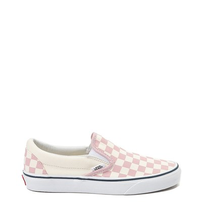 Main view of Vans Slip On Checkerboard Skate Shoe - Zephyr Pink / White