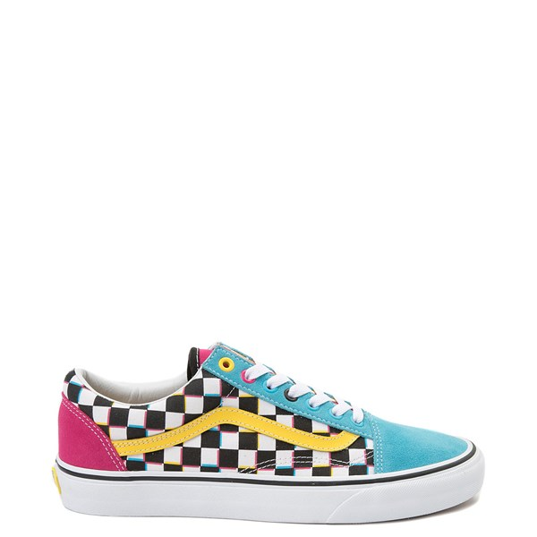 Default view of Vans Old Skool Checkerboard Skate Shoe - Multi