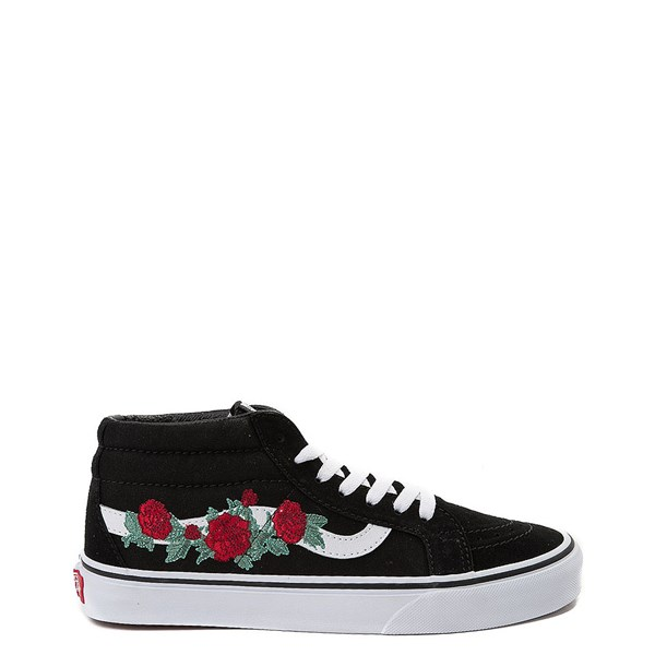 Default view of Vans Sk8 Mid Rose Skate Shoe - Black
