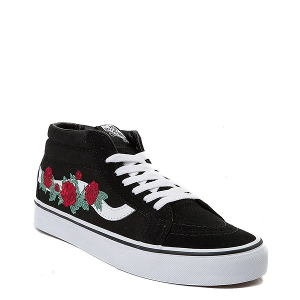 Alternate view of Vans Sk8 Mid Rose Skate Shoe - Black