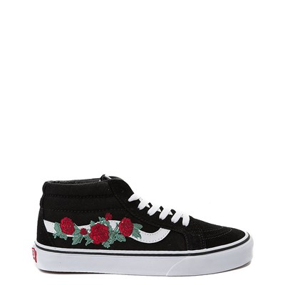 Main view of Vans Sk8 Mid Rose Skate Shoe - Black