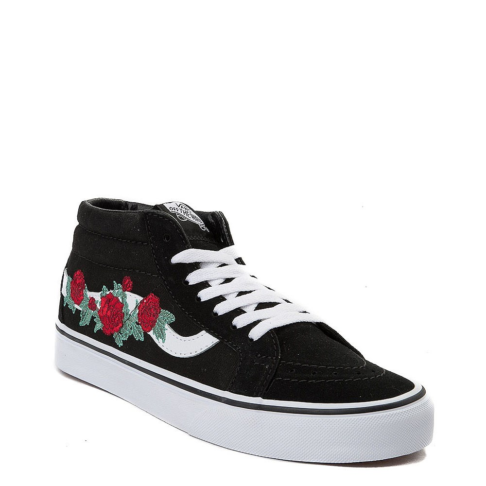 350300a0248d43 Vans Sk8 Mid Rose Skate Shoe. Previous. alternate image ALT5. alternate  image default view. alternate image ALT1