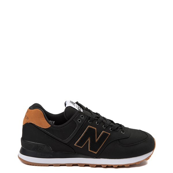 Mens New Balance 574 Athletic Shoe - Black / Tan