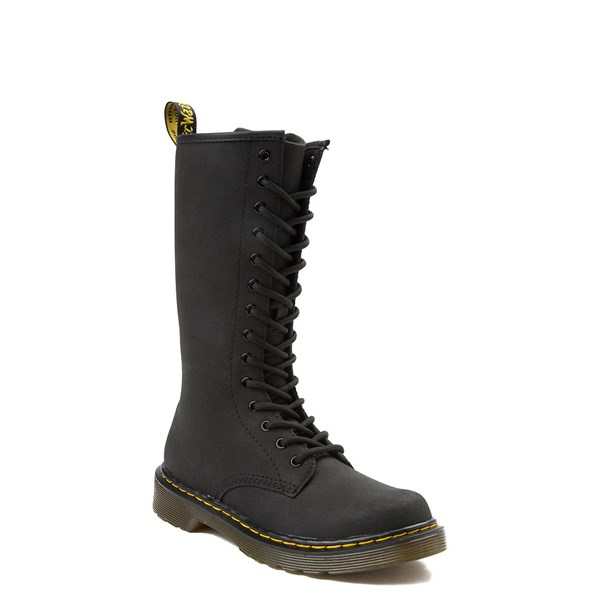 alternate view Dr. Martens 1914 14-Eye Boot - Little Kid - BlackALT1