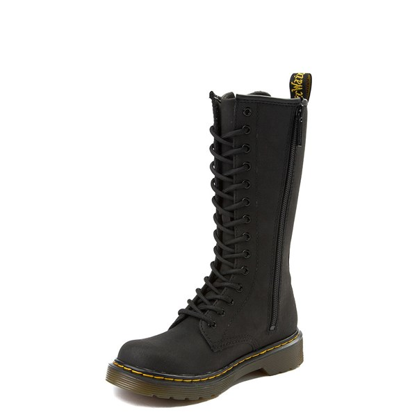 alternate view Dr. Martens 1914 14-Eye Boot - Little Kid - BlackALT3