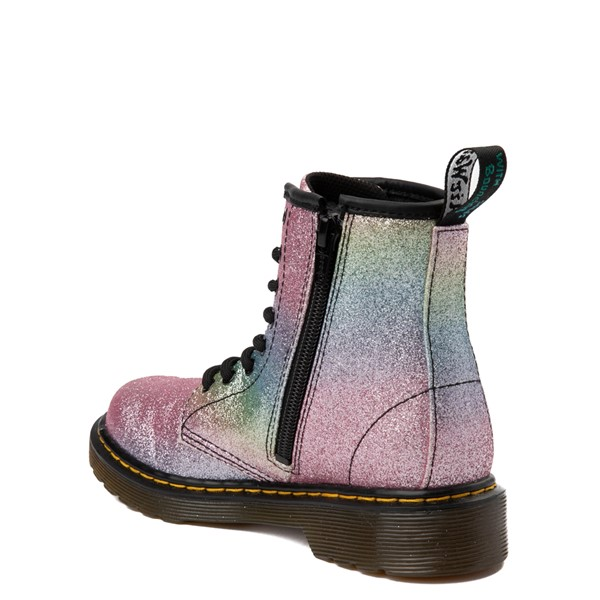 alternate view Dr. Martens 1460 8-Eye Glitter Boot - Girls Little Kid / Big Kid - Pink / MultiALT1