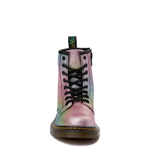 alternate view Dr. Martens 1460 8-Eye Glitter Boot - Girls Little Kid / Big Kid - Pink / MultiALT4