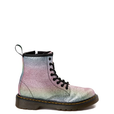 Main view of Dr. Martens 1460 8-Eye Glitter Boot - Girls Little Kid / Big Kid - Pink / Multi