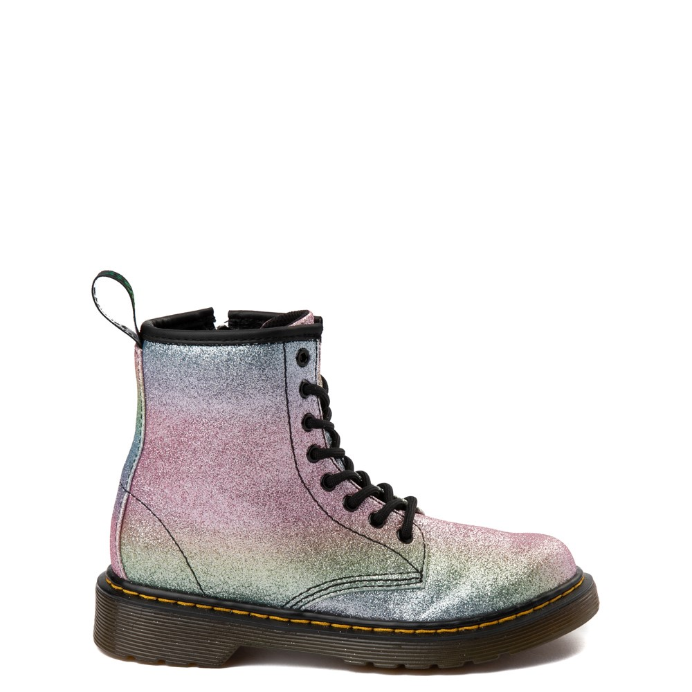 Dr. Martens 1460 8-Eye Glitter Boot - Girls Little Kid / Big Kid - Pink / Multi