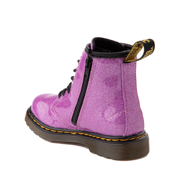 alternate view Dr. Martens 1460 8-Eye Glitter Boot - Girls Toddler - PinkALT1