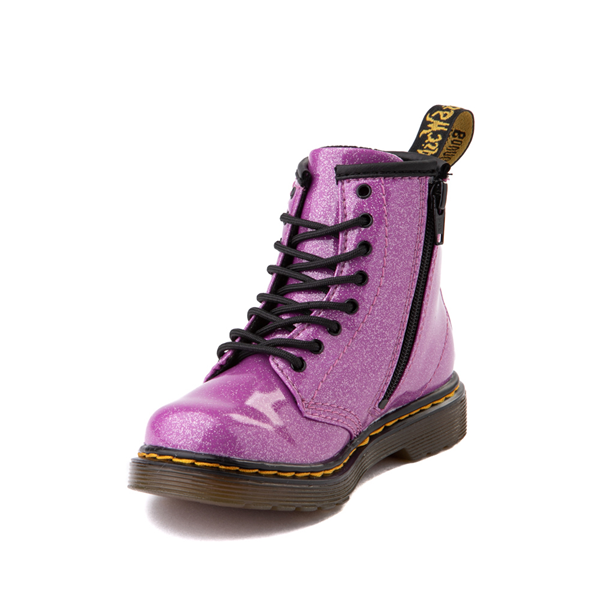 alternate view Dr. Martens 1460 8-Eye Glitter Boot - Girls Toddler - PinkALT2