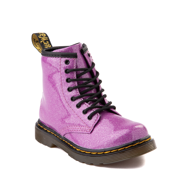 alternate view Dr. Martens 1460 8-Eye Glitter Boot - Girls Toddler - PinkALT5