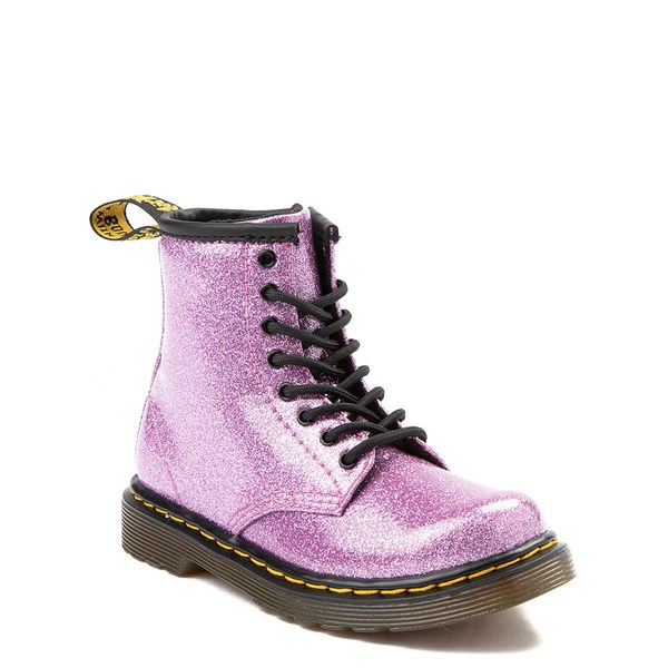 alternate view Dr. Martens 1460 8-Eye Glitter Boot - Girls ToddlerALT1