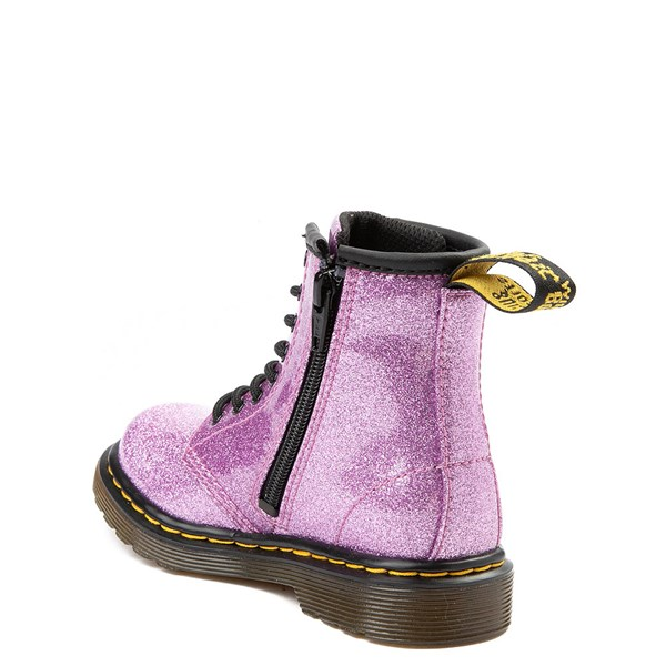 alternate view Dr. Martens 1460 8-Eye Glitter Boot - Girls ToddlerALT2