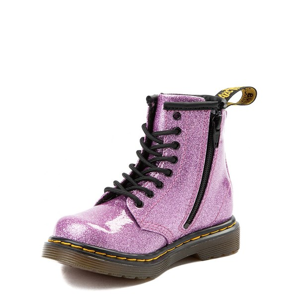 alternate view Dr. Martens 1460 8-Eye Glitter Boot - Girls ToddlerALT3