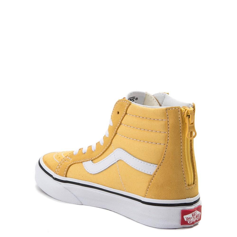 Vans Sk8 Hi Zip Skate Shoe Little Kid Big Kid Yellow