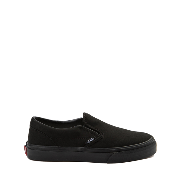 Main view of Vans Slip On Skate Shoe - Little Kid - Black Monochrome