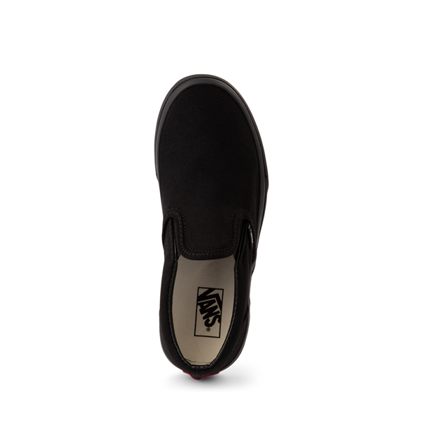 alternate view Vans Slip On Skate Shoe - Little Kid - Black MonochromeALT2