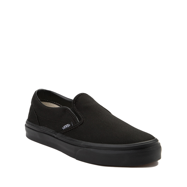 alternate view Vans Slip On Skate Shoe - Little Kid - Black MonochromeALT5