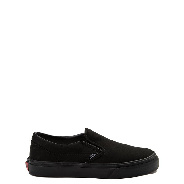Vans Slip On Skate Shoe - Little Kid / Big Kid - Black Monochrome