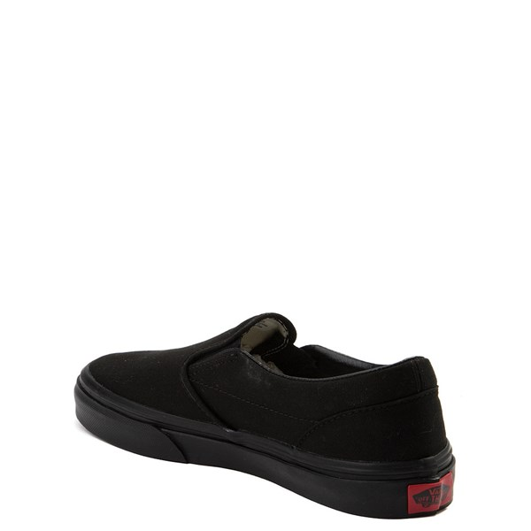 alternate view Vans Slip On Skate Shoe - Little Kid / Big Kid - Black MonochromeALT2