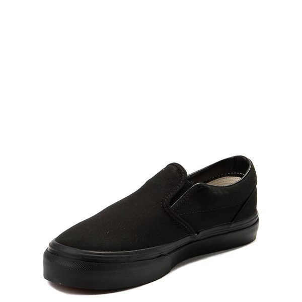 alternate view Vans Slip On Skate Shoe - Little Kid - Black MonochromeALT3