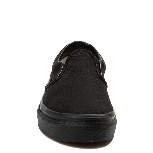 alternate view Vans Slip On Skate Shoe - Little Kid / Big Kid - Black MonochromeALT4