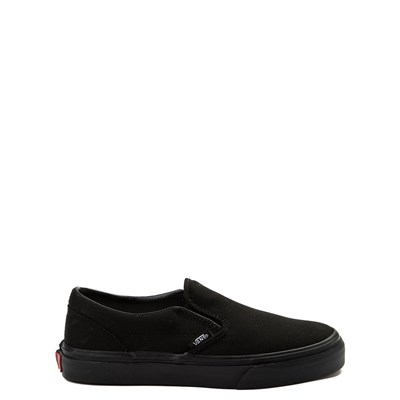 Main view of Vans Slip On Skate Shoe - Little Kid / Big Kid - Black Monochrome
