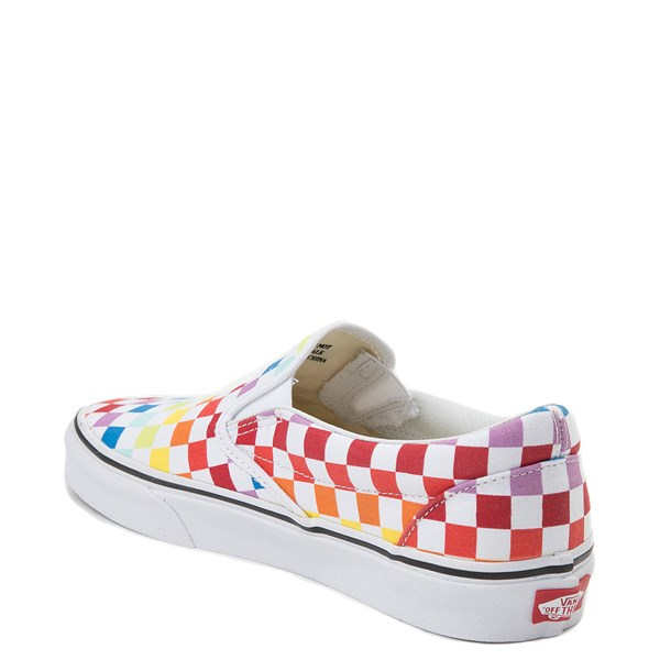 alternate view Vans Slip On Rainbow Checkerboard Skate Shoe - MultiALT2