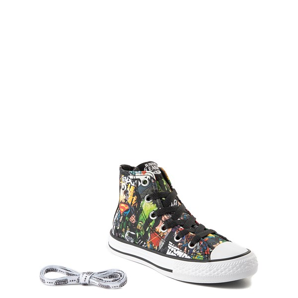 alternate view Converse Chuck Taylor All Star Hi DC Comics Justice League Sneaker - Little KidALT1B