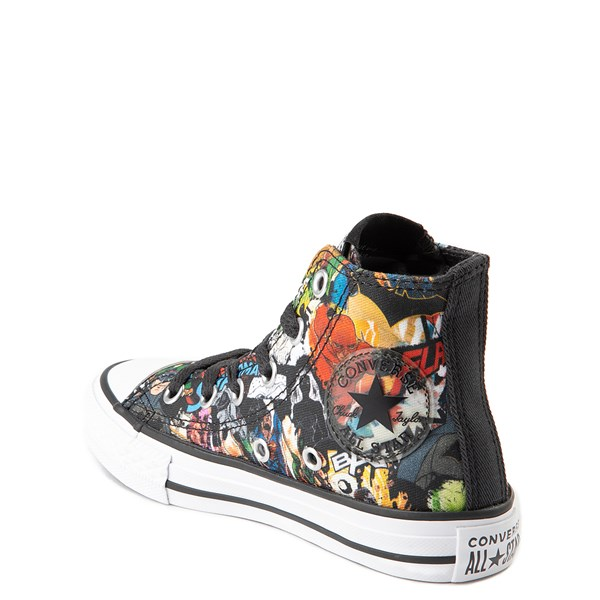 alternate view Converse Chuck Taylor All Star Hi DC Comics Justice League Sneaker - Little KidALT2