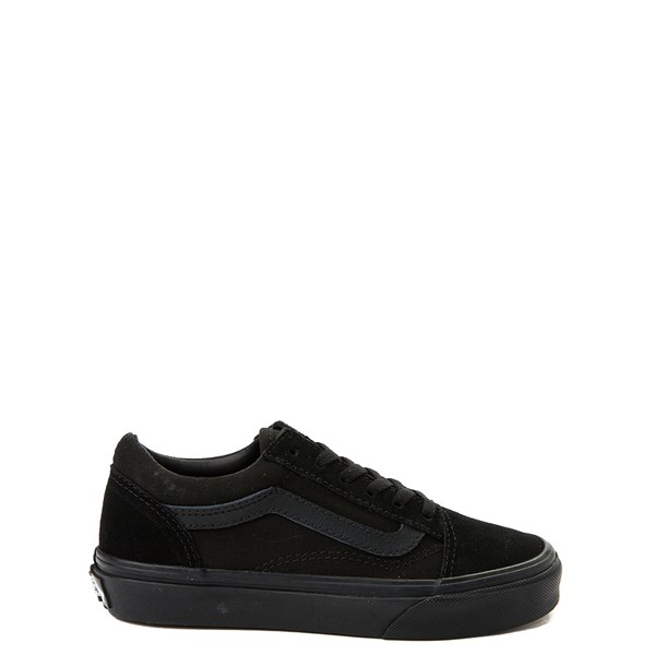 Default view of Vans Old Skool Skate Shoe - Little Kid / Big Kid - Black Monochrome
