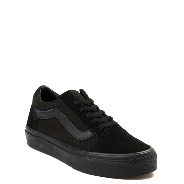 alternate view Vans Old Skool Skate Shoe - Little Kid / Big Kid - Black MonochromeALT1