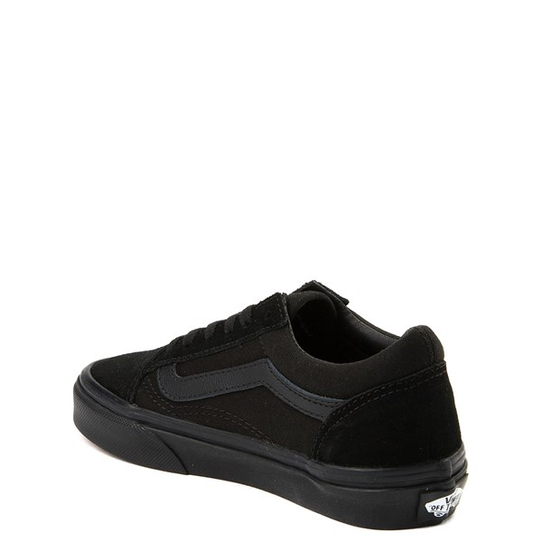 alternate view Vans Old Skool Skate Shoe - Little Kid / Big Kid - Black MonochromeALT2