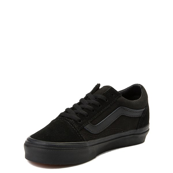 alternate view Vans Old Skool Skate Shoe - Little Kid / Big Kid - Black MonochromeALT3
