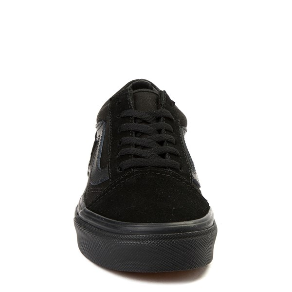 alternate view Vans Old Skool Skate Shoe - Little Kid / Big Kid - Black MonochromeALT4