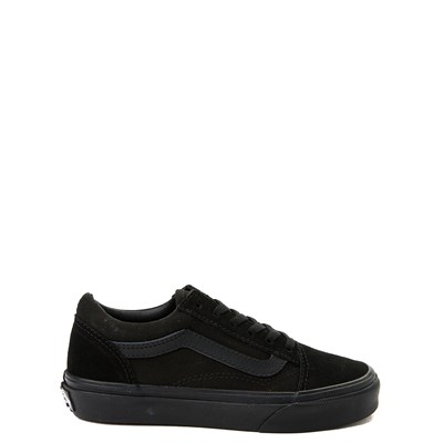 Main view of Vans Old Skool Skate Shoe - Little Kid / Big Kid - Black Monochrome