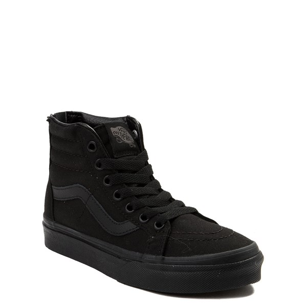Alternate view of Vans Sk8 Hi Zip Skate Shoe - Little Kid / Big Kid - Black Monochrome
