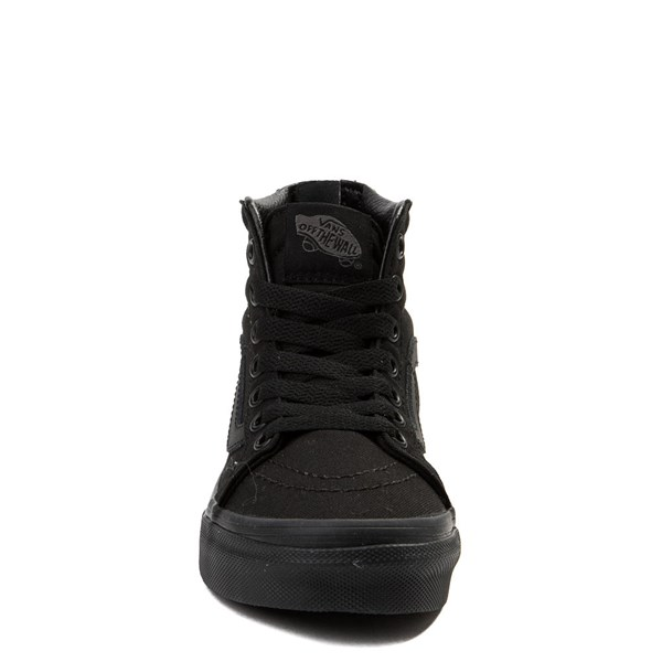 alternate view Vans Sk8 Hi Zip Skate Shoe - Little Kid - Black MonochromeALT4