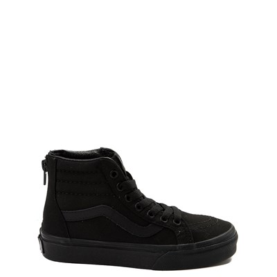 Main view of Vans Sk8 Hi Zip Skate Shoe - Little Kid / Big Kid - Black Monochrome