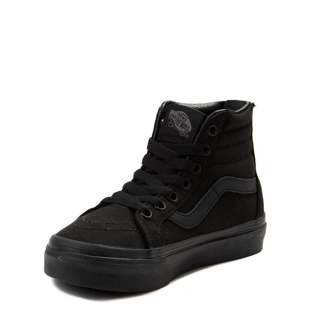 gewoonte zoeken naar verkoopt Vans Sk8 Hi Zip Skate Shoe - Little Kid - Black Monochrome