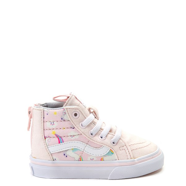 Default view of Vans Sk8 Hi Zip Pegasus Skate Shoe - Baby / Toddler - Light Pink